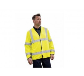Warrior Hi-Vis Long-Sleeved Flame Retardant Waistcoat - 0118FRWLS