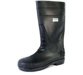 Warrior Non Safety PVC Black Wellington - 0118FWB
