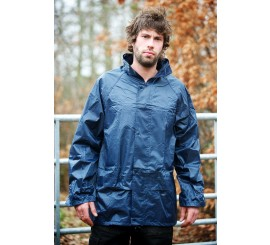 Warrior Navy Nylon PVC Jacket - 0118NPJ