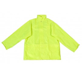 Warrior Yellow Hi-Vis Nylon PVC Jacket - 0118NPJSY