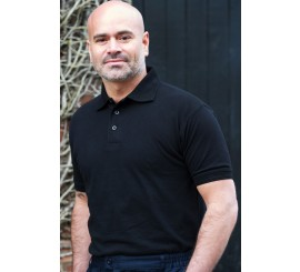 Black Classic Polo Shirt -  discon