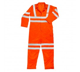 Warrior Rail Spec H-Vis Coverall Orange Tall - 0118RSCOV1T