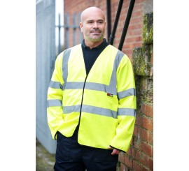 Warrior Hi Vis Long Sleeved Waistcoat Yellow - 0118WLS