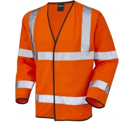 Warrior Hi Vis Long Sleeved Waistcoat Orange - 0118WLSO