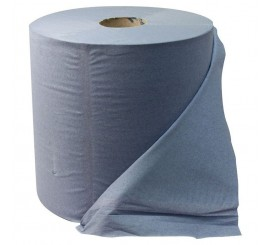3 Ply Blue Wiper Roll 1000 Sheet - 0126P355
