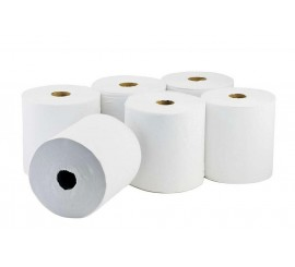 X 6 White Centrefeed 2 Ply Rolls - 0126P10