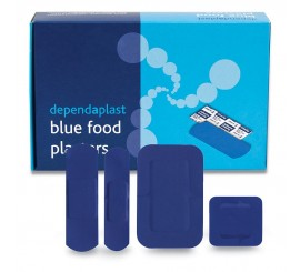 Assorted Blue Plasters (Pack of 100) - 01FPB