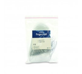 Fingerstall Clear Large (Pack of 10) - 01FSCL