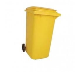 120 Litre Yellow Wheelie Bin - 01WBY120