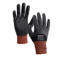 Black Nitrile Knuckle Coated Glove - 0111BKNKC