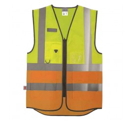 Warrior Hi-Vis Yellow/Orange Executive Waistcoat - 0118WEXFAGYO
