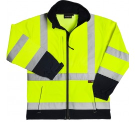 Warrior Iowa Hi-Vis Yellow/Navy Soft Shell - 0118IOWAYN