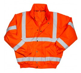 Warrior Hi Vis Tulsa Bomber Jacket - Orange - 0118TULO