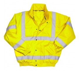 Warrior Hi Vis Tulsa Bomber Jacket - Yellow - 0118TUL
